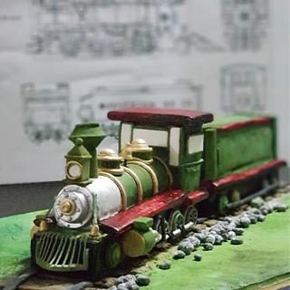 Old Classic Steam Train Cake