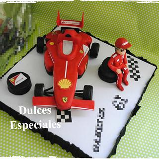 Fern Alonso Ferrari Cake  - Cake by mary