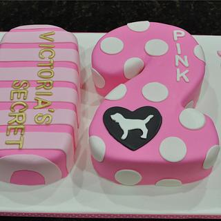 """Victoria's Secret """"Pink"""" Cake - Cake by Cakes For Fun"""