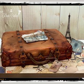 Vintage luggage/Bon Voyage