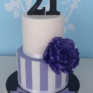 Peony 21st Cake