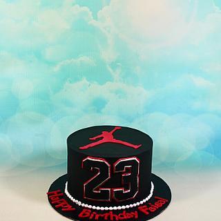 Michael Jordan basketball cake