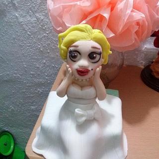 Marilyn Monroe cake topper - Cake by Erika Fabiola Salazar Macías