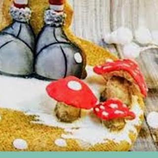 Gnomo con setas de glasa modelable  - Cake by Eva bella daucousse