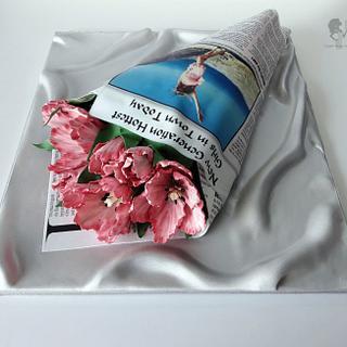 Tulips bouquet - Cake by Antonia Lazarova