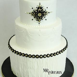 Gatsby wedding cake - Cake by Mé Gâteaux