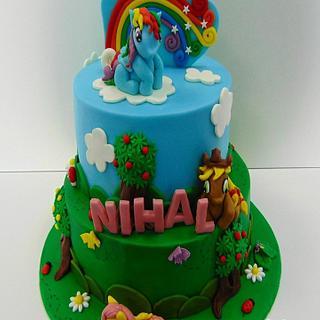 My little pony cake by dulce arte cakes