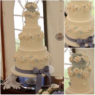 Lost in Austen Wedding Cake