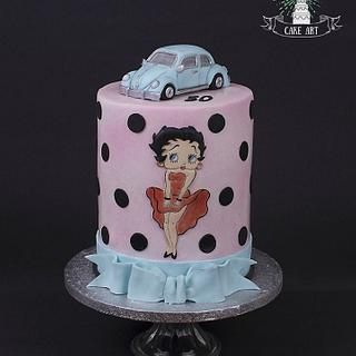 Betty boop and vw beetle