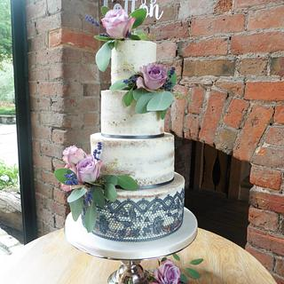 Naked wedding cake - Cake by Helen Alborn