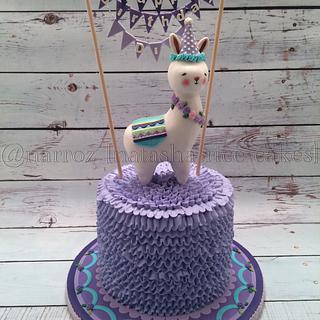 Bunny lama cake