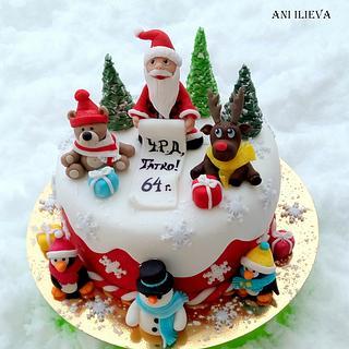 Snowy tale - Cake by aniilievacakes