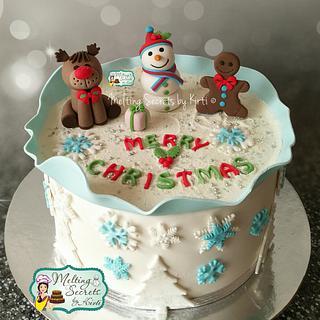 Winter wonderland Christmas theme cake