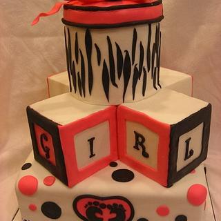 zebra baby shower - Cake by eperra1