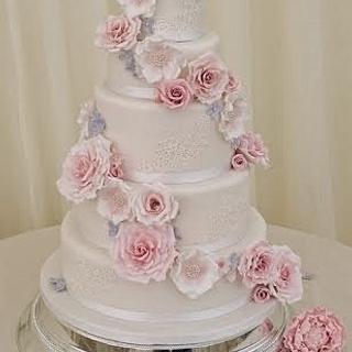 Vintage Wedding Cake - Cake by Sylvania Cakes - Exeter