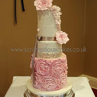 Double Barrel Pink Roses and Rose Ruffles