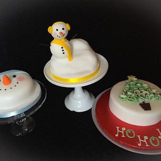 Trio of Christmas cakes !