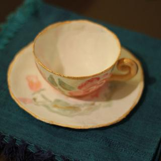 Gum paste teacup and saucer