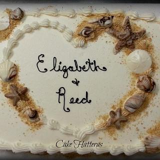 Elizabeth and Reed's Bridal Shower - Cake by Donna Tokazowski- Cake Hatteras, Hatteras N.C.