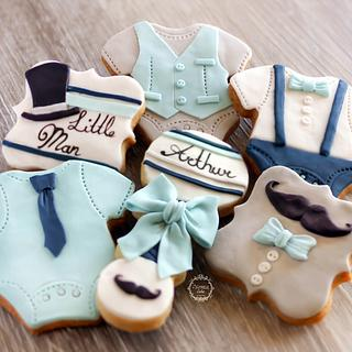 Little Man baby shower cookies - Cake by Estrele Cakes