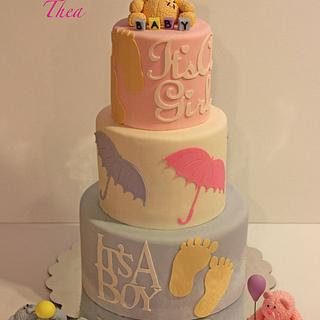 Baby shower for three