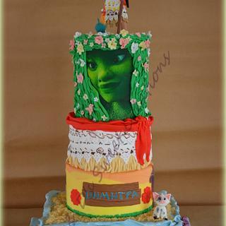 Moana 5-tier birthday cake - Cake by Konstantina - K & D's Sweet Creations