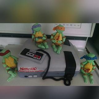 Ninja turtle Nintendo cake