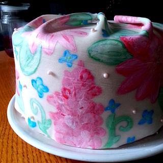 Floral Cake - Handpainted - Cake by Danielle