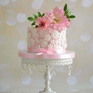 Engagement 💍 pink cake  - Cake by BettyCakesEbthal