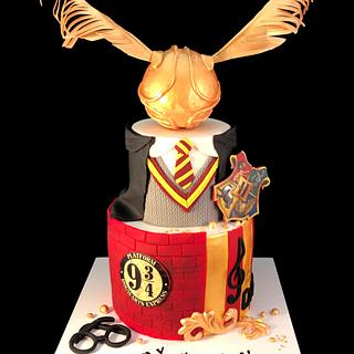 Harry Potter  - Cake by Zoe Byres