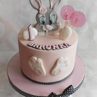 Bunny baby cake