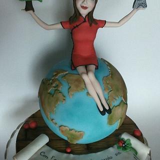 Topper cake Graduation