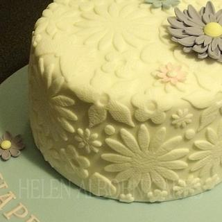 Lace Textured Birthday cake