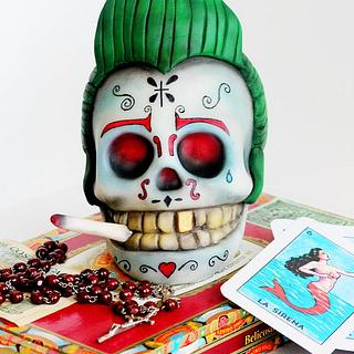 Rockabilly Sugar Skull.