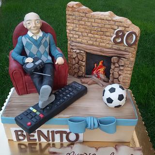 Relax nonno - grandfather relax  - Cake by Dolcidea creazioni
