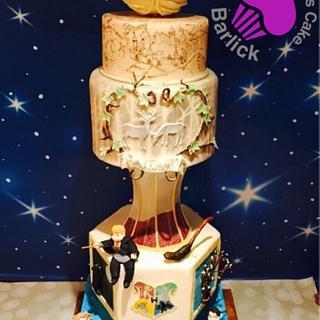 Harry Potter wedding silver award at cake international