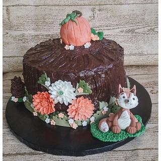 Thanksgiving Woodland Cake