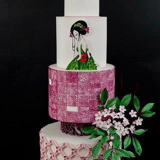 Geisha wedding cake