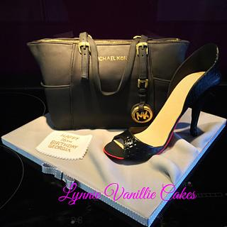 MK handbag and shoe - Cake by Lynnie Vanillie Cakes