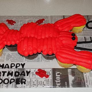Crawfish Cupcake Cake