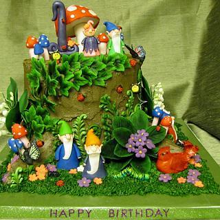Gnomes! - Cake by Katyast