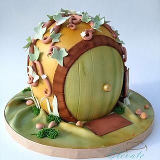 Hobbit Hole Cake - Cake by Elevatecake