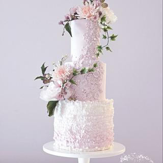 Pretty in Pink Wedding Cake