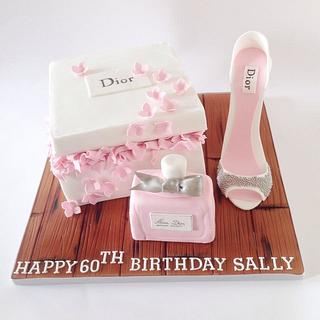 Dior Gift Box Cake - Cake by Claire Lawrence