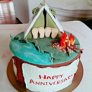 Anniversary Cake_ Camping