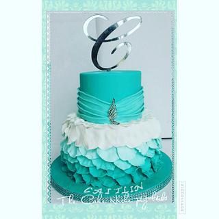 Sweet 16 petal cake