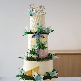 Silent Princess Wedding Cake