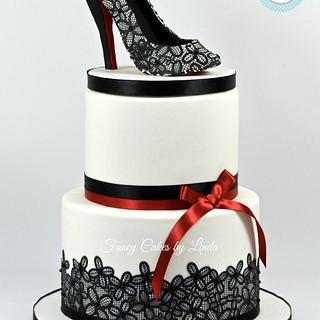 Shoe Cake - Shoe Design Inspired by Christian Louboutin