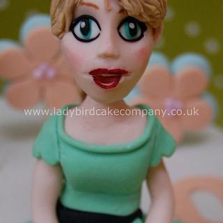 Fortieth birthday figure modelled cake