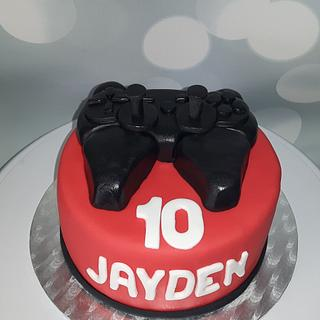 Cake with a controller.